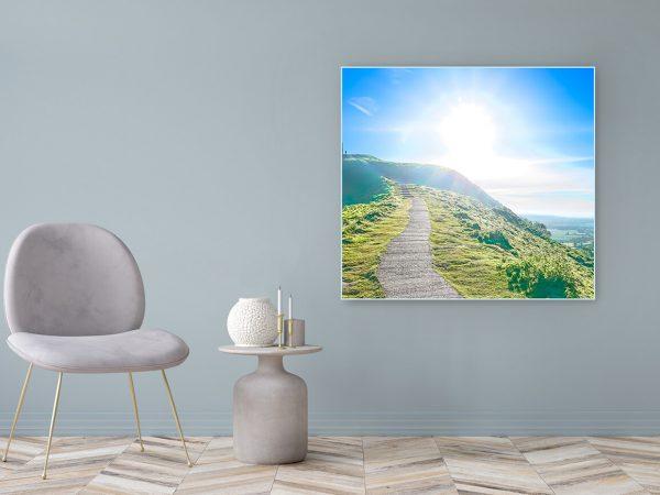 Acrylglasbild Motiv Friede 122x111cm