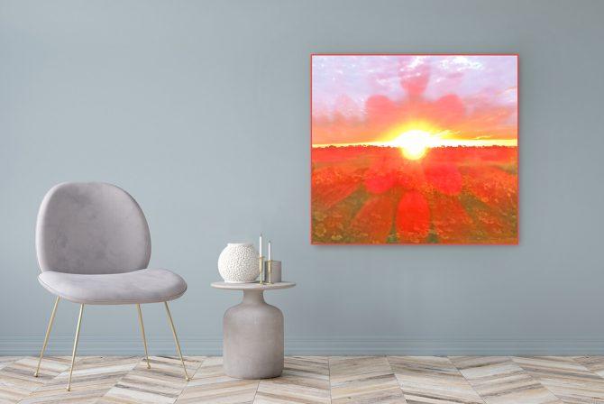Acrylglasbild Motiv Herz 122x111cm