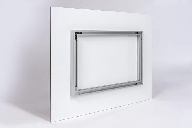 Acrylglasbild Serie Lumen Rückseite Querformat