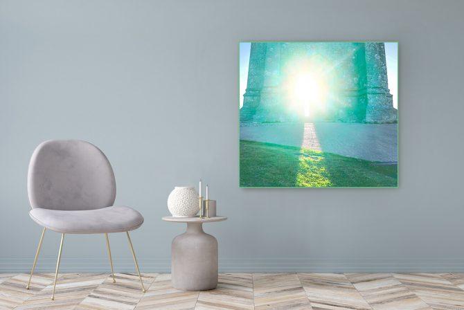 Acrylglasbild Motiv Neubeginn 122x111cm