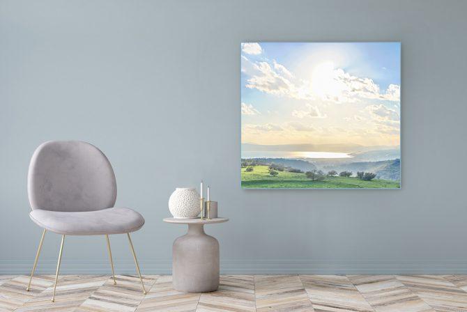 Acrylglasbild Motiv Paradies Erde 122x111cm
