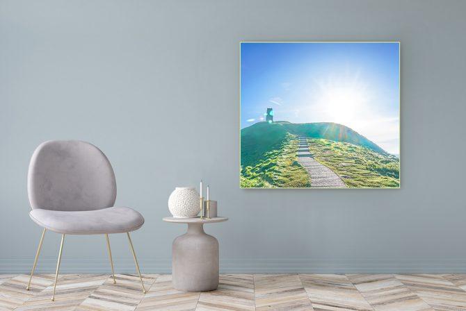 Acrylglasbild Motiv Weg Der Mitte 122x111cm