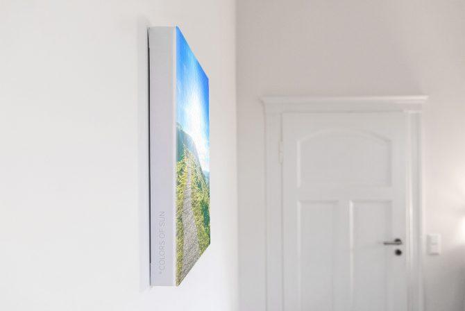 Leinwandbild Motiv Friede 33x44 cm hoch Detail