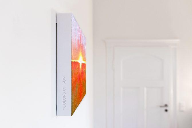 Leinwandbild Motiv Herz 44x33 cm quer Detail