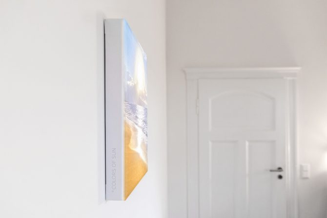 Leinwandbild Motiv Ich bin 33x44 cm hoch Detail