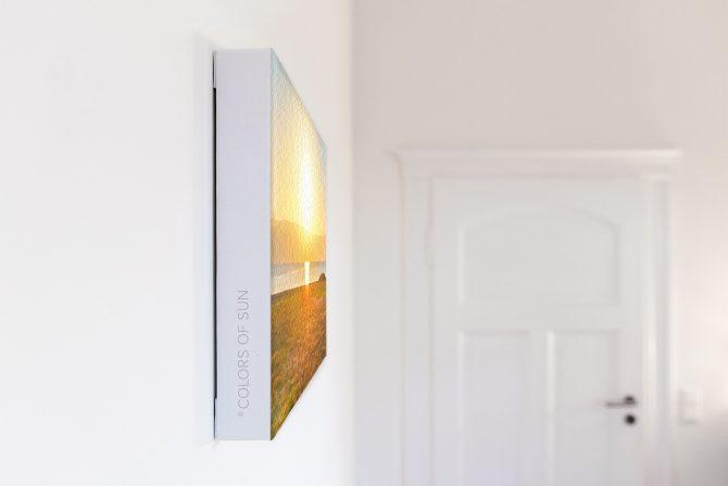 Leinwandbild Motiv Licht 44x33 cm quer Detail