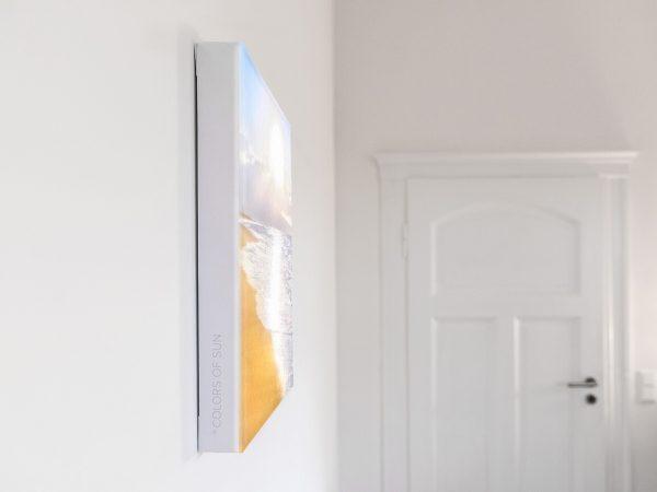 Leinwandbild Motiv Sonnenkind 33x44 cm hoch Detail
